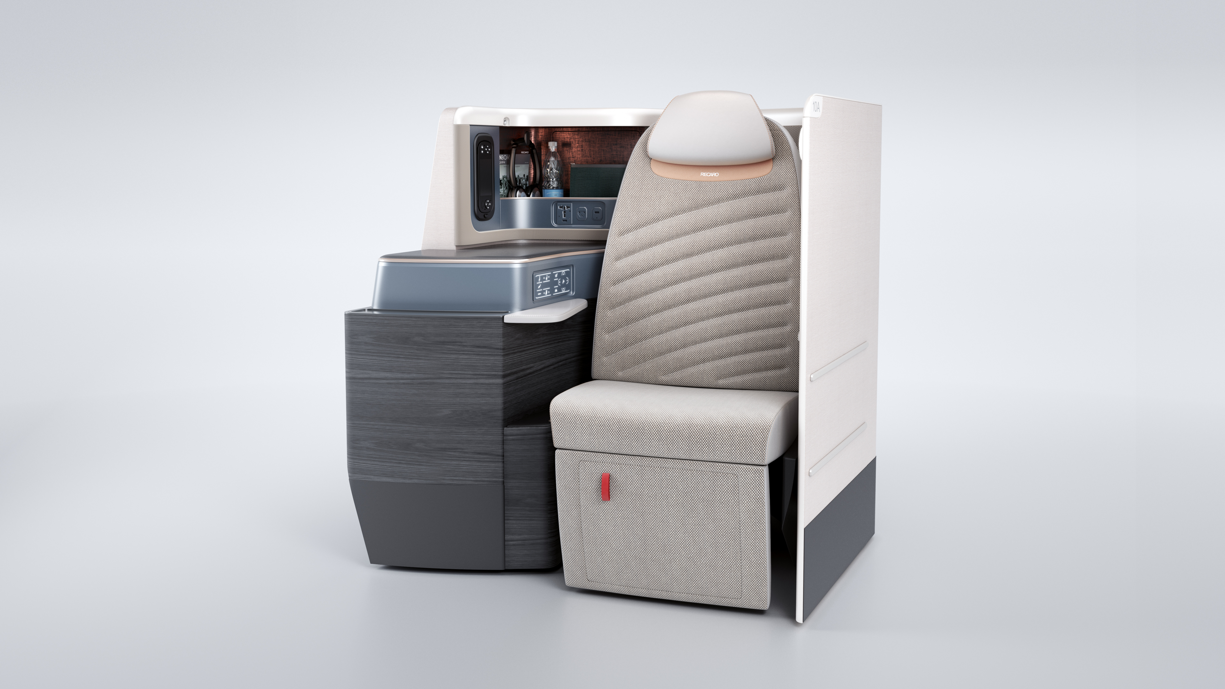 business class seat shell & auxiliaries